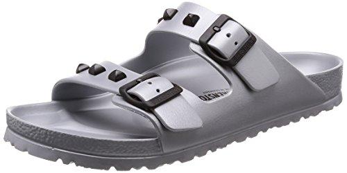 BIRKENSTOCK Damenschuhe Arizona Eva Stud aus Eva, Badeschuh, mit softem Fußbett, Silber (Silver), EU 45, Normal