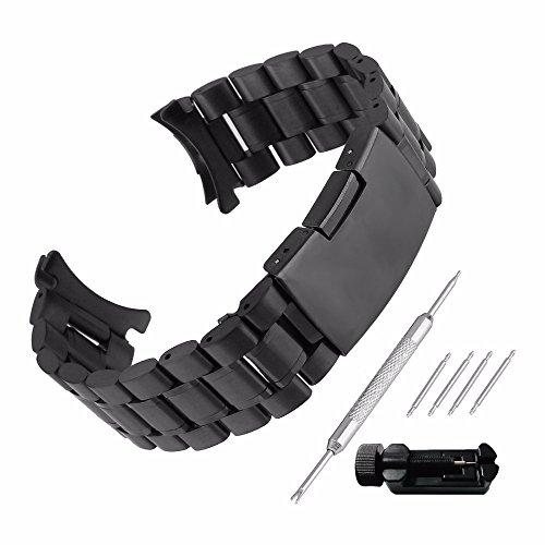 Echthaarverlängerung Armband zeigt Stahl 20mm Ersatz mit Armband Link Pin Remover Set Reparatur Werkzeugset Armband hat Schnalle, Band Handgelenk-Wasserdicht Watch Band Set # 22