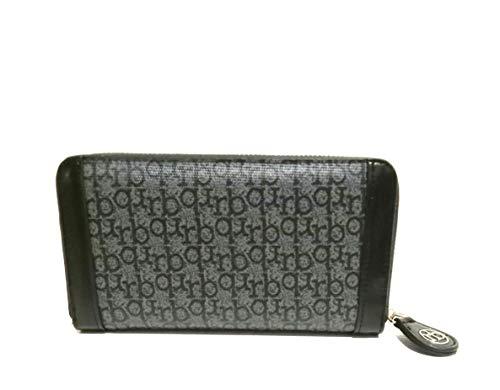 portafoglio con zip grande rb di roccobarocco avanti cm 19x10x2 (nero)