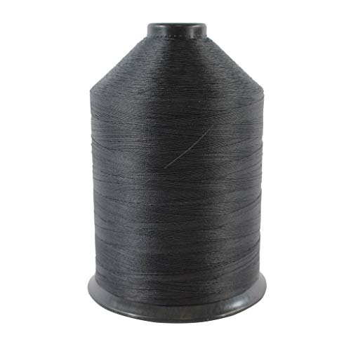 Polyester Sewing Thread (#92) - SGT KNOTS - Moisture, Abrasion, Weather Resistant - Durable Bonded Thread for Stitching Gear & Clothes, Crafts, Tent Repairs, Fishing Line (16 oz. Spool - Black)