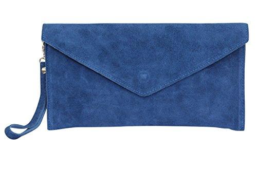AMBRA Moda - Bolso de hombros de mujeres ( 32 x 2 x 17 cm), azul vaquero