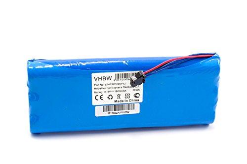 vhbw NiMH batería 1800mAh (14.4V) para aspiradora Ecovacs D