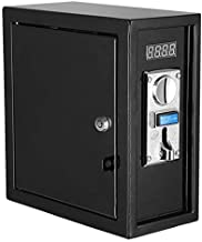 Happybuy Coin operated Timer Control Power Supply Box Coin Acceptor Programmable Control Coin Acceptor Multi Coin Selector for Vending Machine Electronicial Device 110V (black)