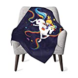 YUERF Rainbow Brite and Starlite Memories Soft Warm Baby Throw Blanket, for Boys Girls Kids Toddler Infant Newborn Child