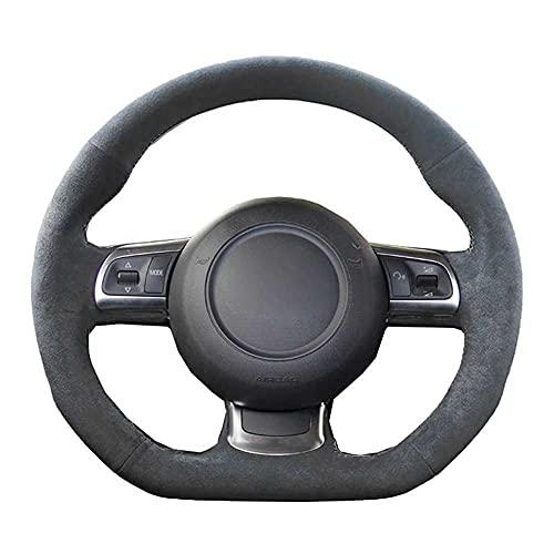 NIUASH Accesorios Interiores de la Cubierta del Volante del Coche, para Audi TT TTS (8J) 2006-2013 2014 A3 S3 (8P) Sportback 2008-2010 2011 2012 R8 (42)