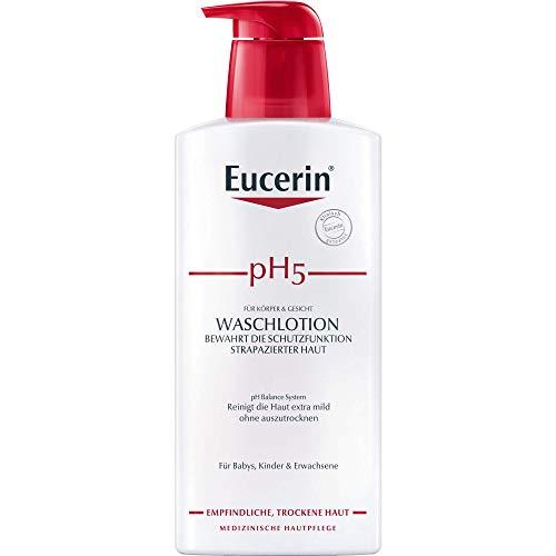 Eucerin pH5 Waschlotion mit Pumpe für Körper und Gesicht, 400 ml Lotion