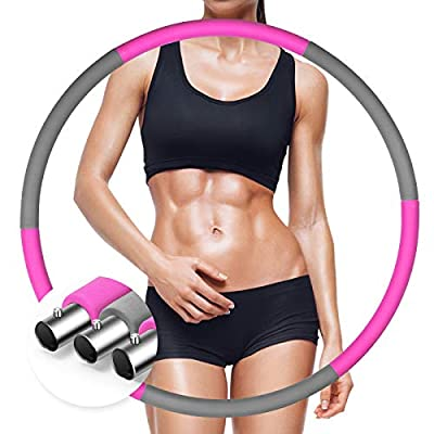 Amazon - 55% Off on Exercise Hoops for Adults,Stainless Steel Weighted Hoop for Exercises