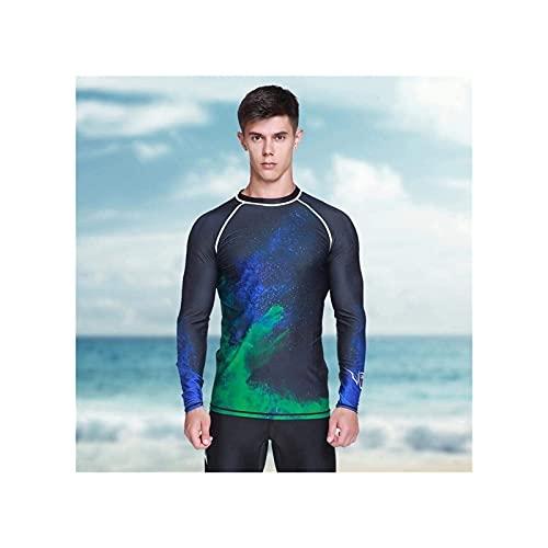 Tauchanzüge, Tauchen Kurzarm, atmungsaktive Bequeme Langarm-Neoprenanzug Jacke Top Tauchen Surfen Schwimmen (Größe : M)