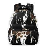 LNLN Mochila Casual para niñas Australian Shepherd Litter Laptop Backpack School Backpack for Men Women Lightweight Travel Casual Durable Daily Daypack College Student Rucksack 11 5in X 8in X 16in
