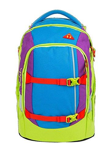 satch pack Flash Jumper 3er Set Rucksack, Schlamperbox & Regencape Blau