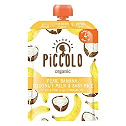 Piccolo Organic Banana Coconut and Baby White Rice, 100g