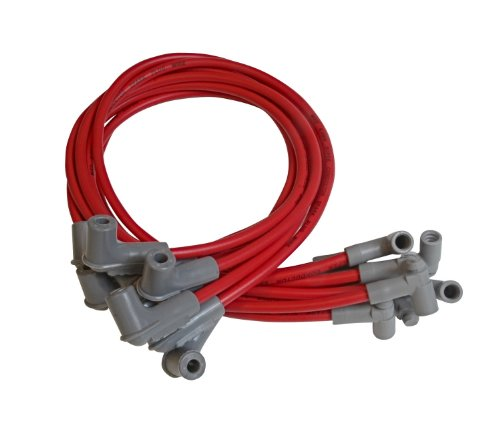 MSD 35609 Red 8.5mm Super Conductor Spark Plug Wire Set
