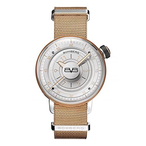 Bomberg Reloj analógico de cuarzo unisex BB-01 oro rosa