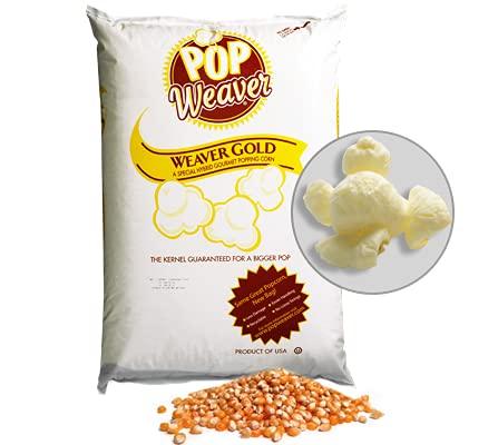 Pop Weaver Popcorn Kernels - Weaver Gold 50-lb Bag - Butterfly Style Popping Corn
