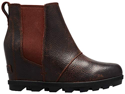 Sorel - Women's Joan of Arctic Wedge II Chelsea, Leather or Suede Ankle Boot, Burro, 10 M US