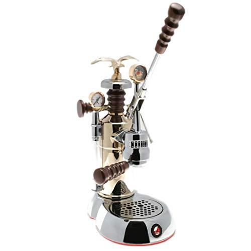 "La Pavoni ESPCO-16 Esperto ""Competente"" Espresso Machine, Chrome/Brass, 16 Cups Capacity, Larger 38-Ounce Boilers with Mounted Pressure Gauge"