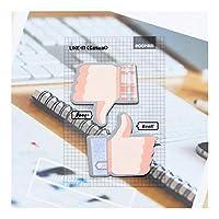 MAODING 1足のかわいいかわいい接着親指アップ付箋クリエイティブポストメモ帳メモ帳オフィス学校ステーショナリーステッカー (Color : 1)