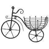 Soporte De Planta De Triciclo Negro, Soporte Para Carrito De Macetas, Estante De Exhibición De Macetero Con Forma De Bicicleta De Hierro Vintage Para Decoración Del Jardín Del Hogar Al Aire Libre