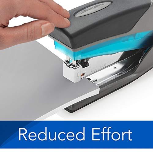 Swingline Stapler, Optima 25, Full Size Desktop Stapler, 25 Sheet Capacity, Reduced Effort, Blue/Gray - Pack of 3 Photo #3
