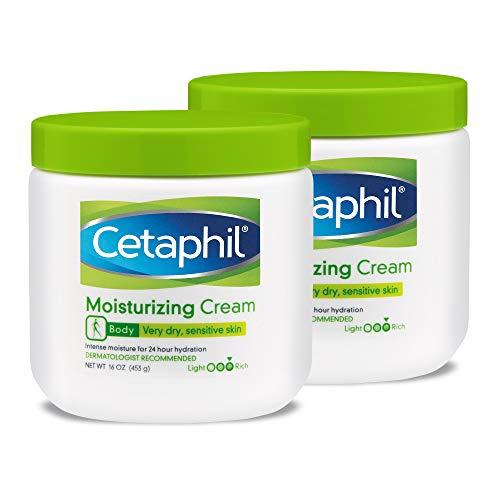 Cetaphil Fragrance Free Moisturizing Cream, 16 Ounce (Pack of 2) Almond Intensive Facial Cream