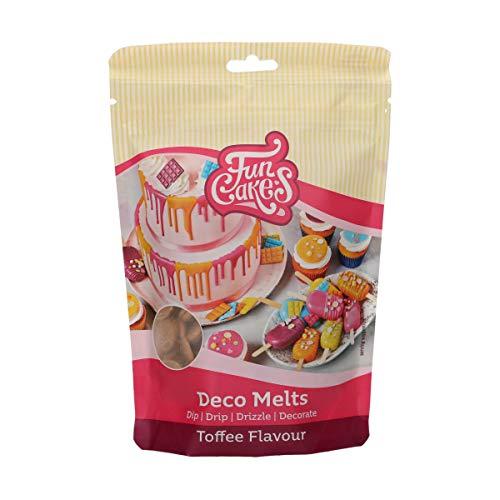 FunCakes Deco Melts Toffee-Geschmack - Tauchen, drippen, dippen und dekorieren! In der Mikrowelle schmelzen und in jede Form gießen, 250 g