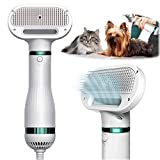 KUUBIA 2 in 1 Pet Hair Dryer with Self Cleaning...