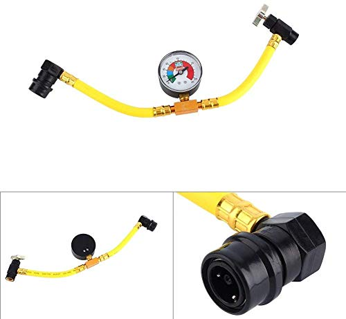 R134A Car Refrigerant Recharge Hose, Car AC Air Conditioning 1/2' Can Tap with Pressure Gauge, Car AC Air Conditioner Recharge Kit