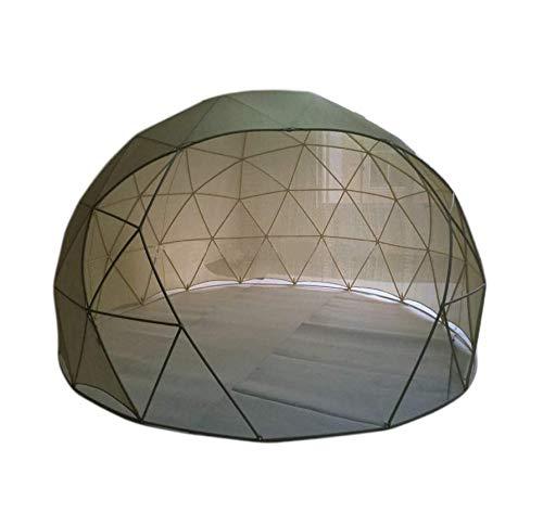 Cúpula de jardín con cubierta de PVC y cubierta de malla, 11.8 pies Sala de sol de invierno Tienda de campaña para 8 personas Kit de invernadero Tienda de campaña para la familia Jardín al aire