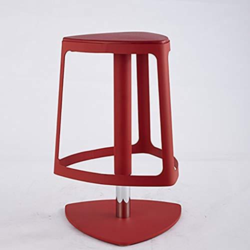 NBVCX Möbel Dekoration Barhocker Barhocker Industriehocker Frühstückshocker KTV Kartensitz Eisen Kunst Home Bar Stuhl Heben und Drehen Hocker (Farbe: Rot)