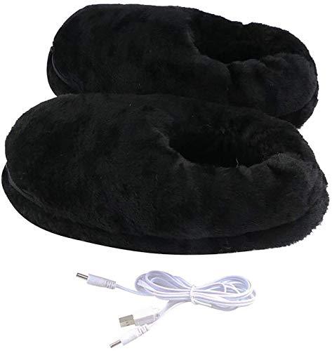 LONG-M Zapatos De Invierno con Calentador USB, Zapatillas Eléctricas Cálidas De Felpa,...