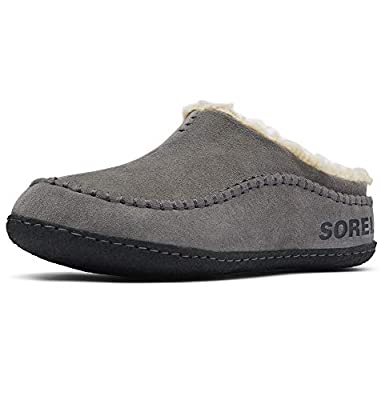 Sorel - Men's Falcon Ridge II House Slippers with Suede Upper and Wool/Polyester Lining, Quarry/Black, 12 M US