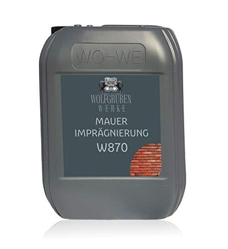 Mauer Fassaden Imprägnierung W870 Fassadenschutz Mauerschutz Abdichtung - 5L