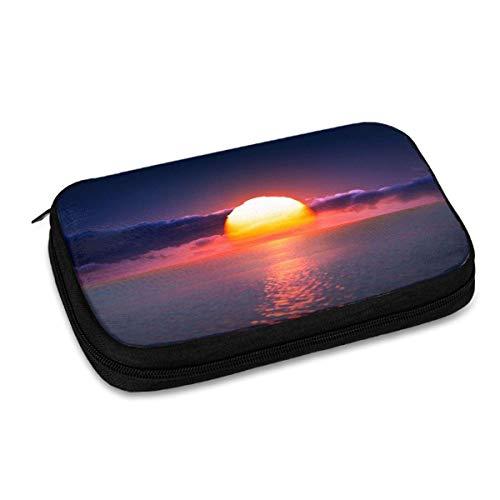 Organizador de viaje para almacenamiento de viaje, caja protectora para banco de energía, varios bolsillos de malla, diseño divertido