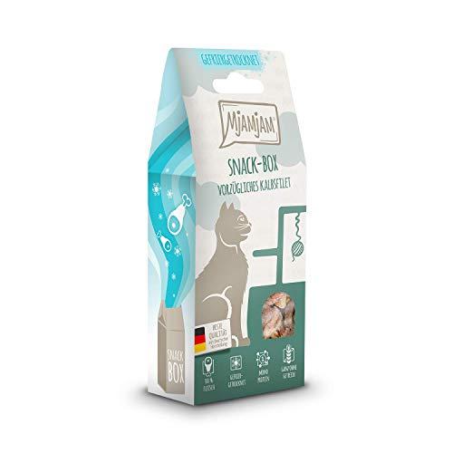 MjAMjAM - Premium Snackbox für Katzen - vorzügliches Kalbsfilet, 1er Pack (1 x 35 g) 33301