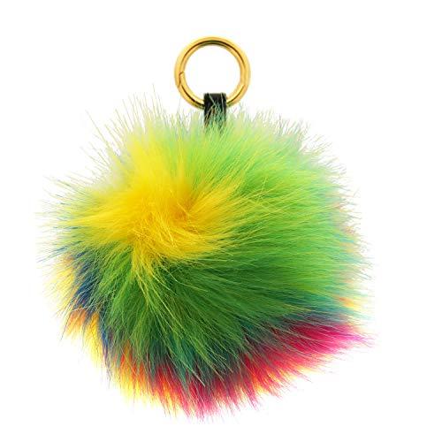 Sweet Deluxe Sleutelhanger Pom-Pom, Goud/Multi I Cooler sleutelhouder voor dames & meisjes I cadeau-idee voor vrouwen & BFF vriendin I individuele sleutelring
