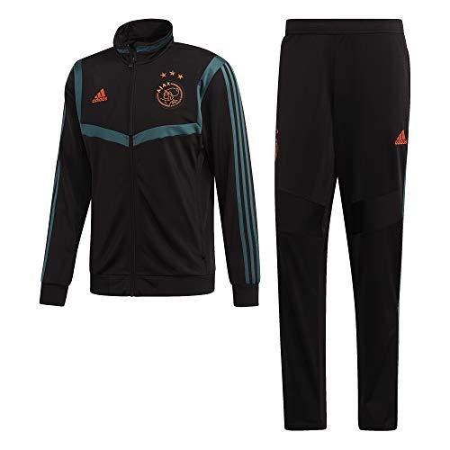 adidas Herren Ajax PES Suit Trainingsanzug, Schwarz/Grün (Negro/Vertec), XL