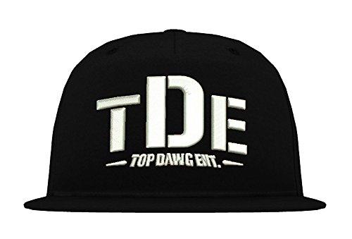 TRVPPY 5-Panel Snapback Cap Modell TDE Kendrick Lamar, Weiß-Schwarz, B610