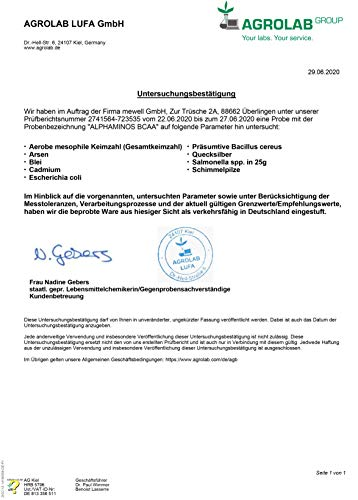 PROFUEL® Alphaminos Blutorange – BCAA 2:1:1 (Leucin, Isoleucin & Valin) – Hervorragende Löslichkeit und sensationeller Geschmack – Hochwertige verzweigkettinge Aminosäuren made in Germany – Vor, während oder nach dem Training – 300 Gramm Dose (Pulver) - 3