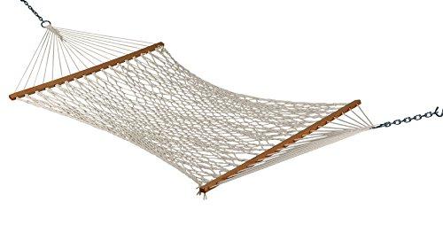 Hangit Hammocks 48''W X 11'FT White Rope Outdoor Hammock Furniture for Garden (Polyester)