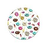 Macaron Donuts Muffins Sugar Tasty Yummy Round Wall Poster Plauqe, Retro Vintage Metal Tin Signs para la cocina del hogar, cafetería bar Pub Wall Art Decor Custom Wall Tin Plate 30,5 cm