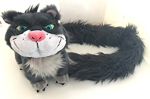 Disney Lucifer Cat from Cinderella Kitten Long Tail Stole Boa Scarf Plush Doll