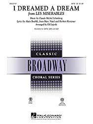 Claude-Michel Schonberg: I Dreamed A Dream (Les Miserables) (SATB). Partitions pour SATB, Accompagnement Piano