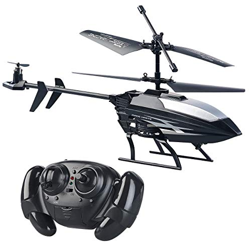 Simulus Mini Helikopter: Ferngesteuerter 3,5-Kanal-Mini-Hubschrauber mit 3 Rotoren und Gyroskop (Helicopter)