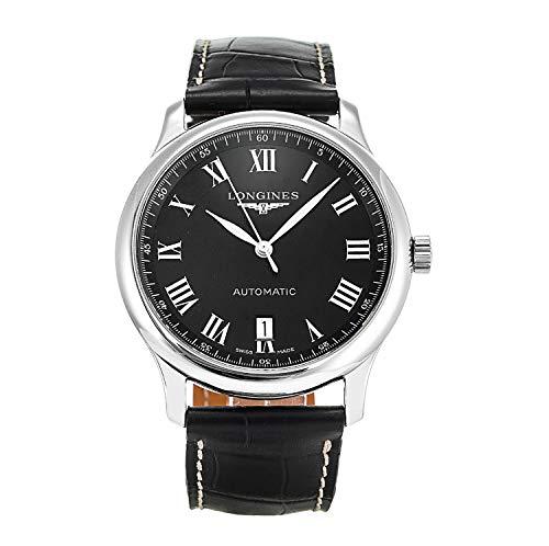 Longines Master Collection L2.628.4.51.7 - Reloj automático Suizo para Hombre, Esfera Negra y Correa de Piel Negra