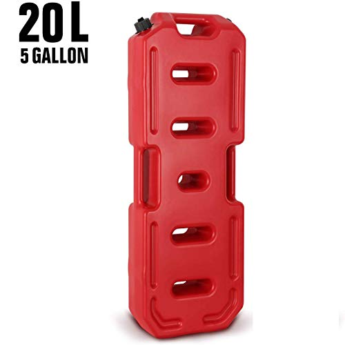 Mustbe Strong 5 Gallonen Benzinkanister Tragbares Notfall-Backup Heizöl Benzin Diesel Gas Lagertank Für Jeep JK Wrangler SUV ATV Auto,Rot