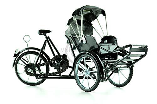 Bicicleta de 3 ruedas Xich Lo- de metal, hecha a mano, color negro, modelo T004