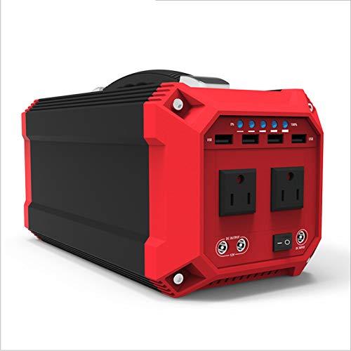 SHIN Generador Solar Portátil, 330w 89200mAh Generadores solares para Acampar 220v / 300w Toma de Corriente alterna, para Acampar al Aire Libre Emergencia de Viaje