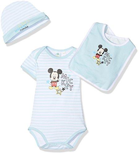 Mickey Mouse Little Stars Ensemble, Bleu (L Blue), 3-6 Mois (Taille Fabricant: 3/6 Month) Bébé garçon