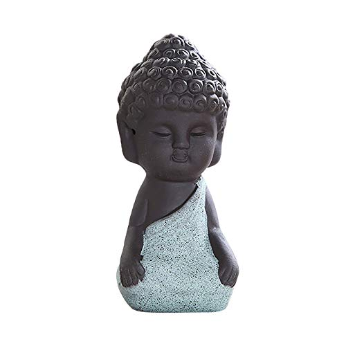 Cute Small Ceramic Buddha Statues Monk Figurines Sculptures Buddha Statue Monk Figurine Creative Baby Crafts Dolls Ornaments Gift Delicate Ceramic Arts and Crafts