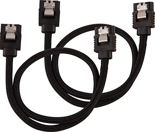 Corsair Premium Sleeved SATA 3 Kabel (6Gbps, 30 cm) Schwarz